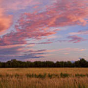 Boulder County Colorado Country Sunset Poster