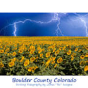 Boulder  County Colorado Poster