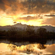 Boulder County Sunset Reflection Poster