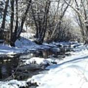 Boulder Creek After A Snowstorm Poster