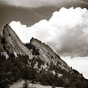 Large Cloud Over Flatirons Poster
