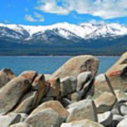 Boulder Shore Lake Tahoe Poster