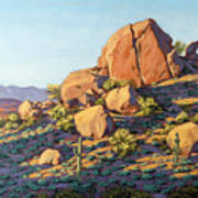 Boulders By Pinnacle Peak Mountain Poster