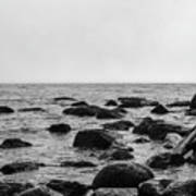 Boulders In The Ocean Poster