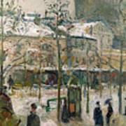 Boulevard De Rocheouart In Snow Poster