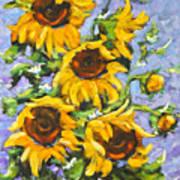 Bouquet Del Sol Sunflowers Poster