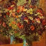 Bouquet In Front Of A Mirror 1877 Poster