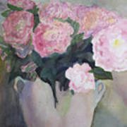 Bouquet Of Pink Peonies Poster