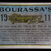 Bourassa's Photographic Studio Poster