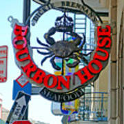 Bourbon House Signage Poster
