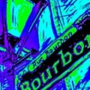 Bourbon Street In Blue Poster