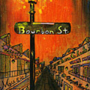 Bourbon Street Lamp Post Poster