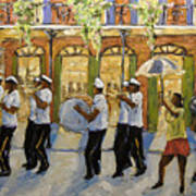 Bourbon Street Second Line New Orleans Poster