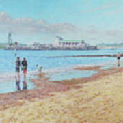 Bournemouth Pier Late Summer Morning Painting By Martin Davey