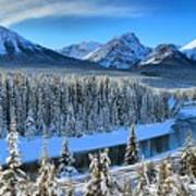 Bow River Valley View Poster