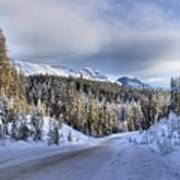 Bow Valley Parkway Winter Conditions Poster