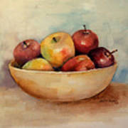 Bowl Of Apples Poster