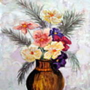 Bowl Of Flowers Poster