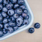 Bowl Of Fresh Blueberries Poster