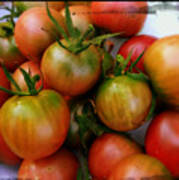 Bowl Of Heirloom Tomatoes Poster