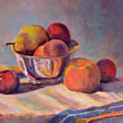 Bowl With Fruit Poster