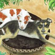 Boxer Hound Cross Dogs Plants Animals Cathy Peek Poster