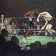 Boxing Match Poster by George Luks