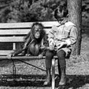 Boy And Orangutan Poster