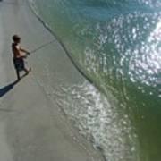 Boy Fishing On Captiva Poster