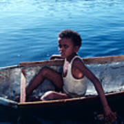 Boy In A Tin Boat On The Nile Poster