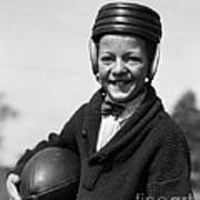 Boy In Old-fashioined Football Gear Poster