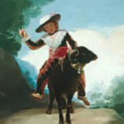 Boy On A Ram Poster