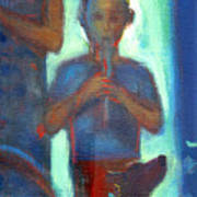 Boy Playing Flute Poster