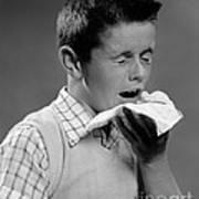 Boy Sneezing Poster