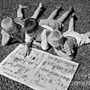 Boys Reading Newspaper Comics, C.1950s Poster