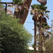Brachiosaurus Running Through Cabazon Poster