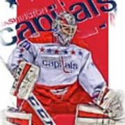 Braden Holtby Washington Capitals Oil Art Poster