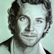Bradley Cooper Charcoal Portrait Poster