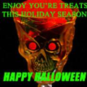 Brain Desert Halloween Card Poster