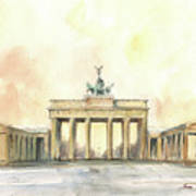 Brandenburger Tor, Berlin Poster