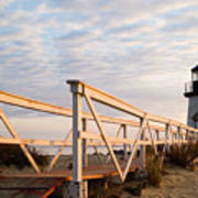 Brant Point Lighthouse And Walkway - Nantucket Poster