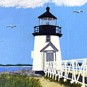 Brant Point Lighthouse Painting Poster