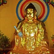 Brass Buddha Emei Poster