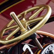Brass Steering Wheel Poster