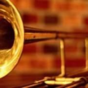 Brass Trombone Poster