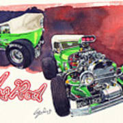 Brazilian Hot Rod V8 Poster