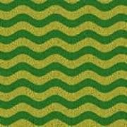 Brazilian Paving Pattern In Brazilian Colours. Poster