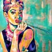 Audrey Hepburn Painting, Breakfast At Tiffany's Poster