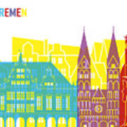 Bremen Skyline Pop Poster