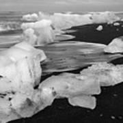Brethamerkursandur Iceberg Beach Iceland 2319 Poster